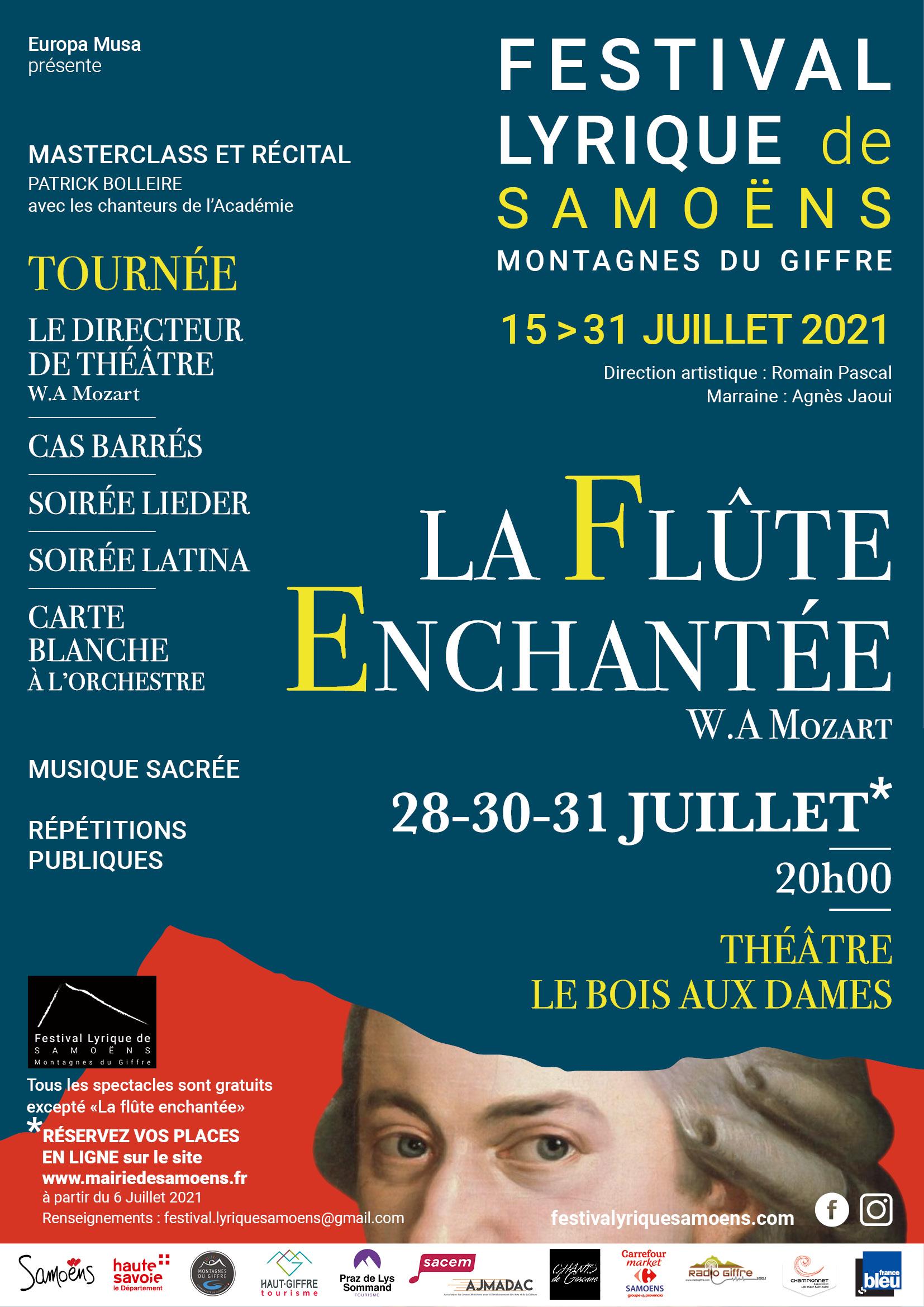 Festival lyrique de Samoëns du 15 au 31 juillet 2021