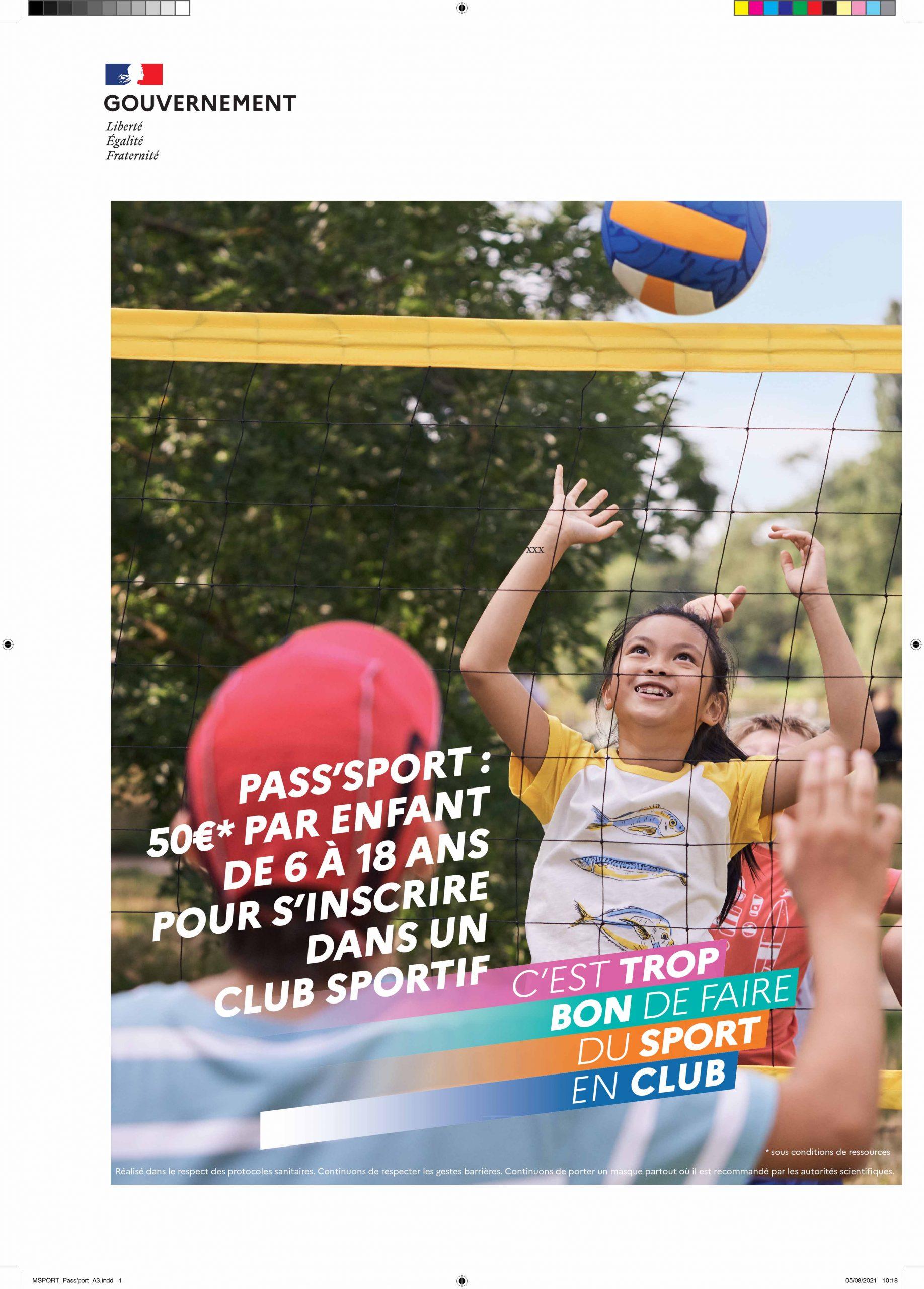 Rentrée sportive & Pass'Sport : Message du ministère chargé des sports