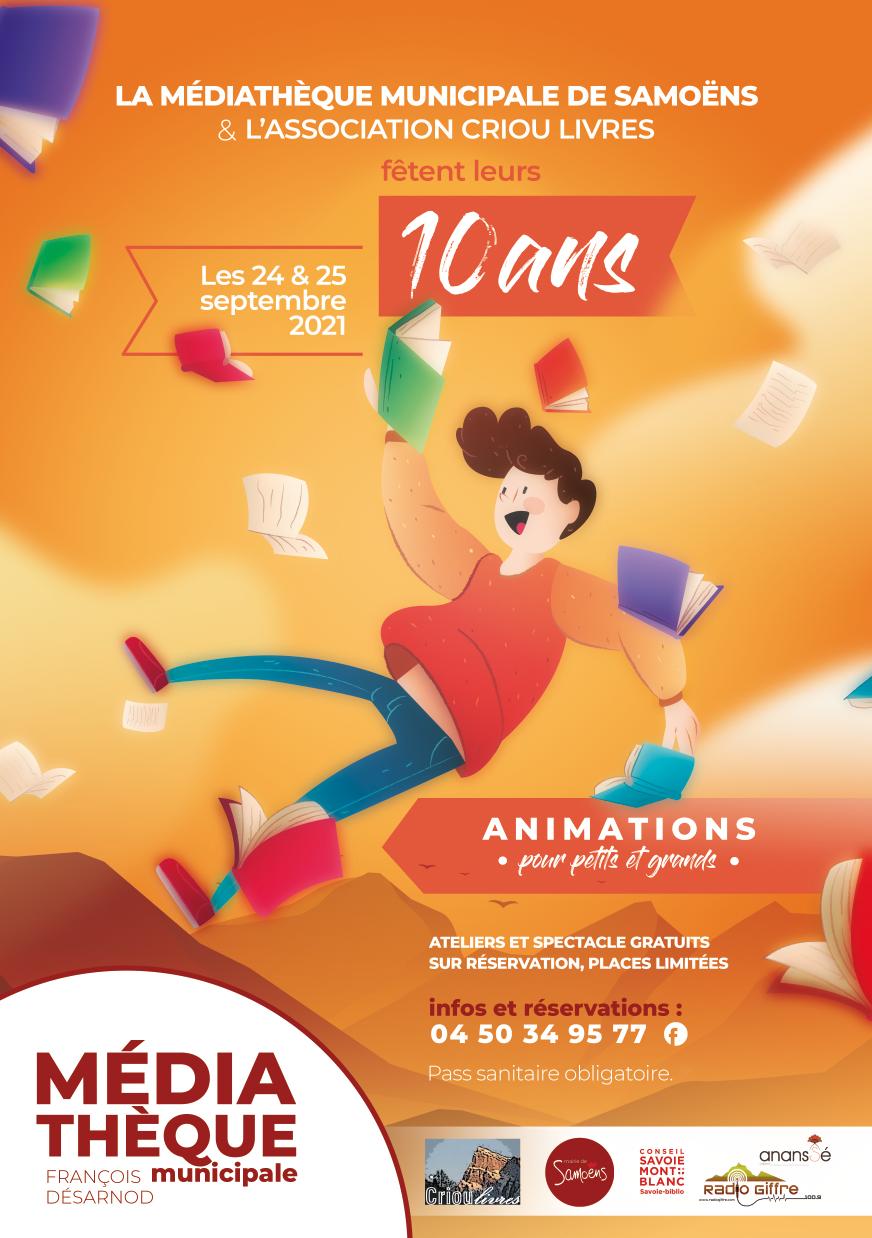 Les 10 ans de la Médiathèque et de l'association Criou Livres