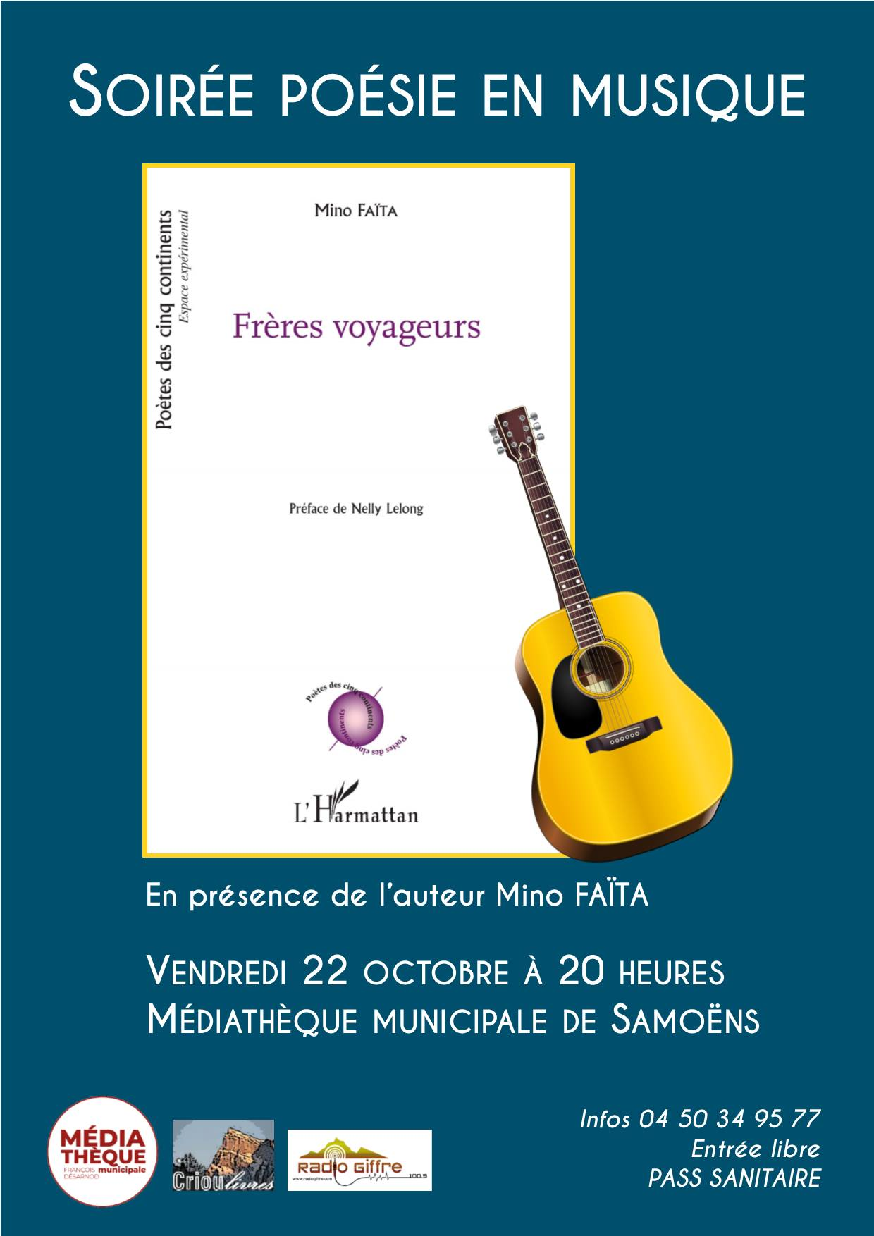 Soirée poésie en musique à la Médiathèque – Vendredi 22 octobre 2021
