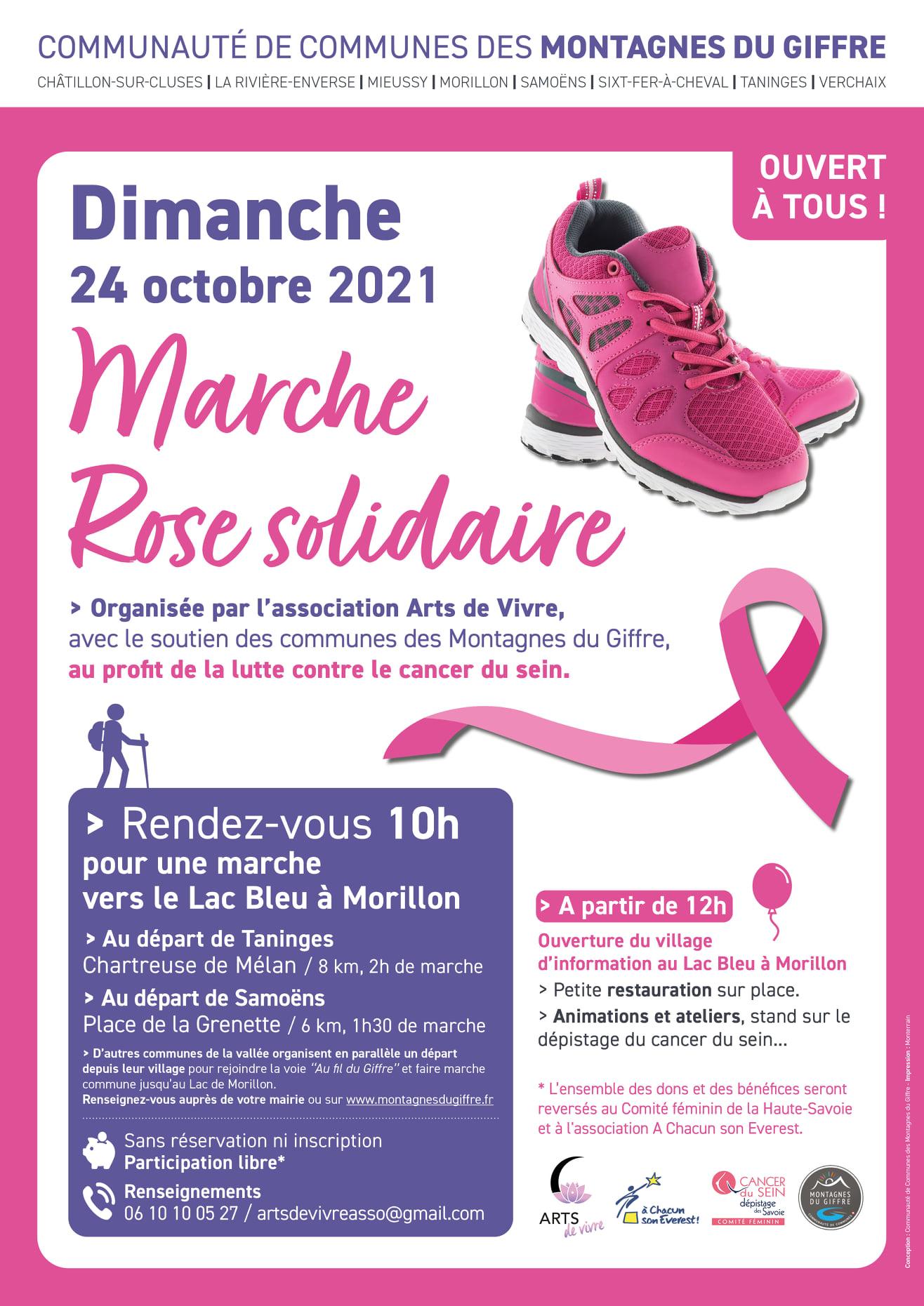 Octobre Rose : Marche Rose solidaire – Dimanche 24 octobre 2021